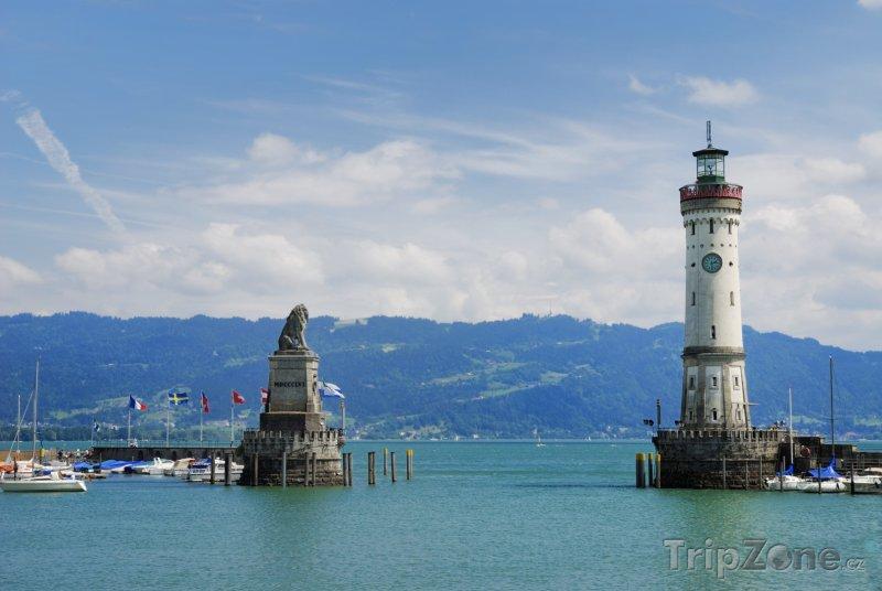 Fotka, Foto Lindau - přístav u Bodamského jezera (Německo)