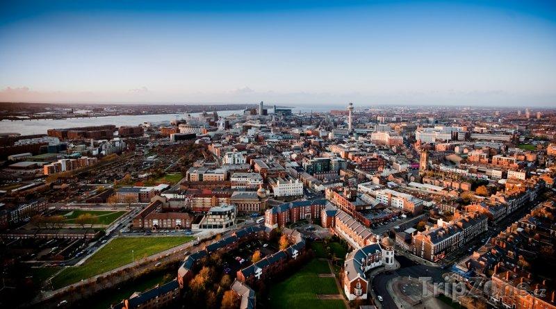 Fotka, Foto Liverpool z ptačí perspektivy (Liverpool, Velká Británie)