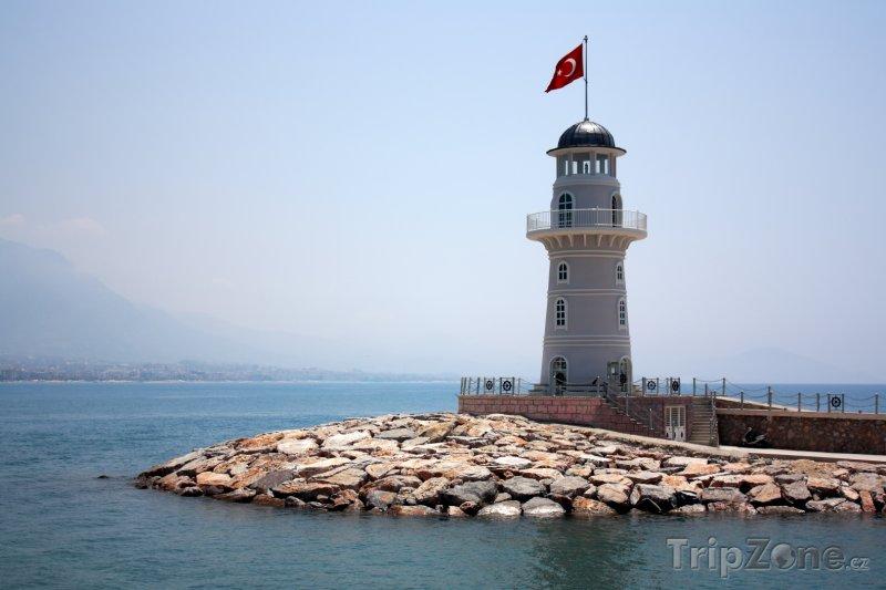 Fotka, Foto Maják v přístavu Alanya (Turecko)