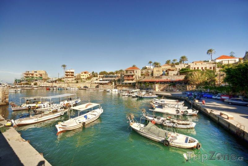 Fotka, Foto Malý přístav ve městě Byblos (Libanon)