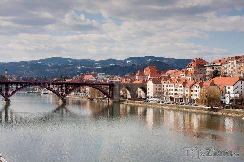 Fotka, Foto Maribor, most přes Drávu (Slovinsko)