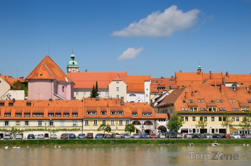 Fotka, Foto Maribor, nábřeží Drávy (Slovinsko)