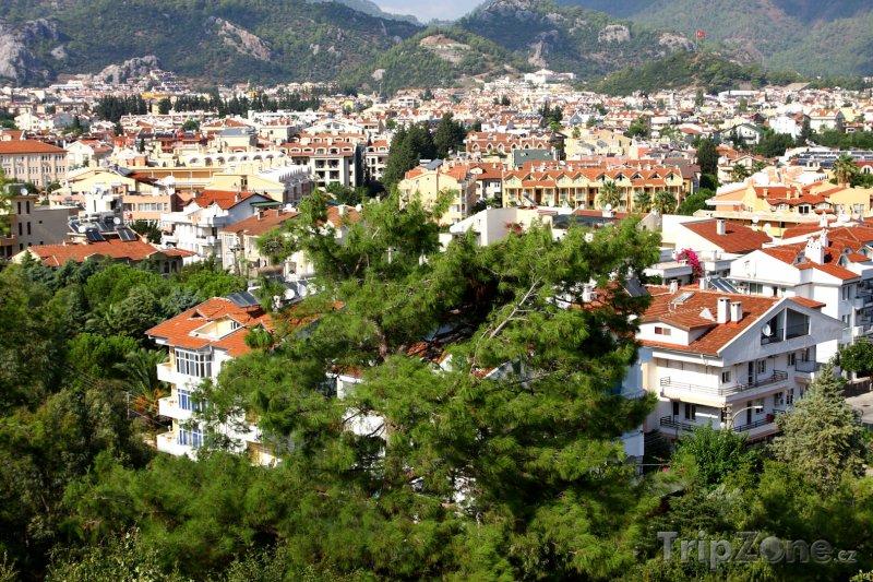 Fotka, Foto Marmaris, pohled na město (Egejská riviéra, Turecko)