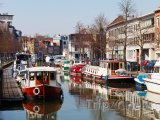 Mechelen, lodě na kanálu