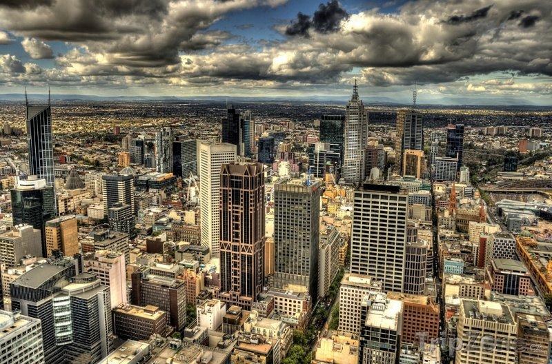 Fotka, Foto Melbourne - pohled na město (Austrálie)