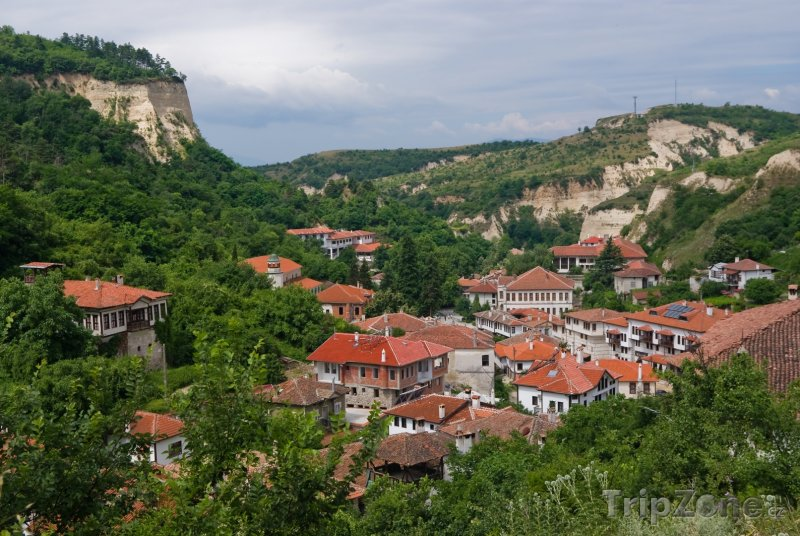Fotka, Foto Melnik, panoráma města (Bulharsko)