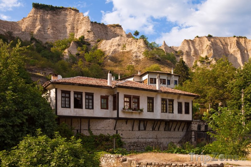 Fotka, Foto Město Melnik, typické domy (Bulharsko)