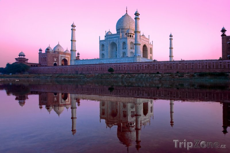 Fotka, Foto Monumentální pomník Tádž Mahal v Ágře (Indie)