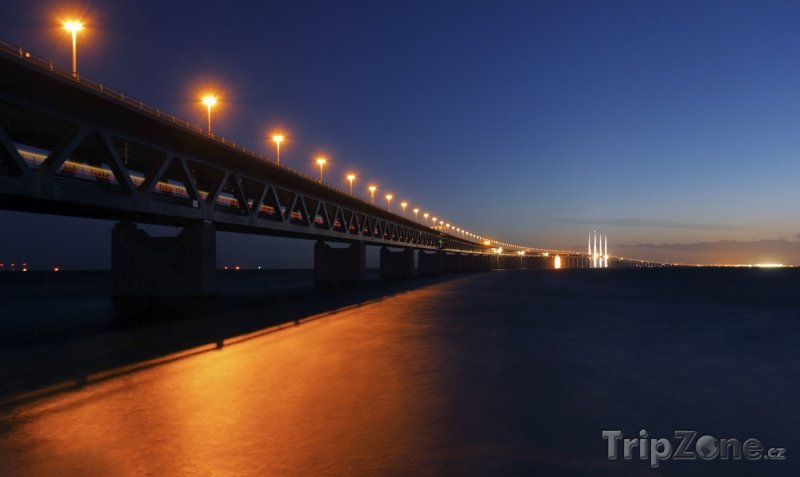 Fotka, Foto Most Öresund mezi Švédskem a Dánskem (Švédsko)