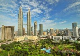Mrakodrapy Petronas Twin Towers v hlavním městě Kuala Lumpur