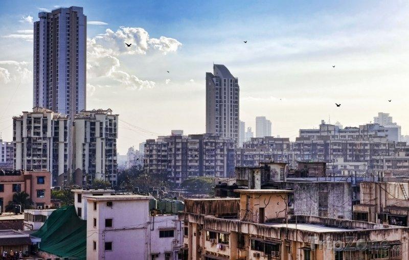 Fotka, Foto Mrakodrapy v Bombaji (Indie)