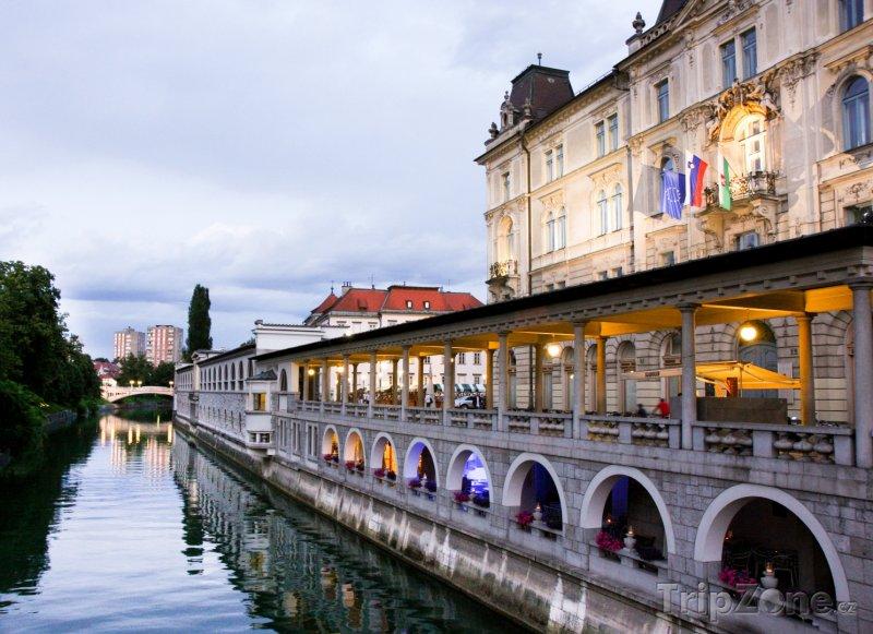 Fotka, Foto Nábřeží Lublanice (Lublaň, Slovinsko)