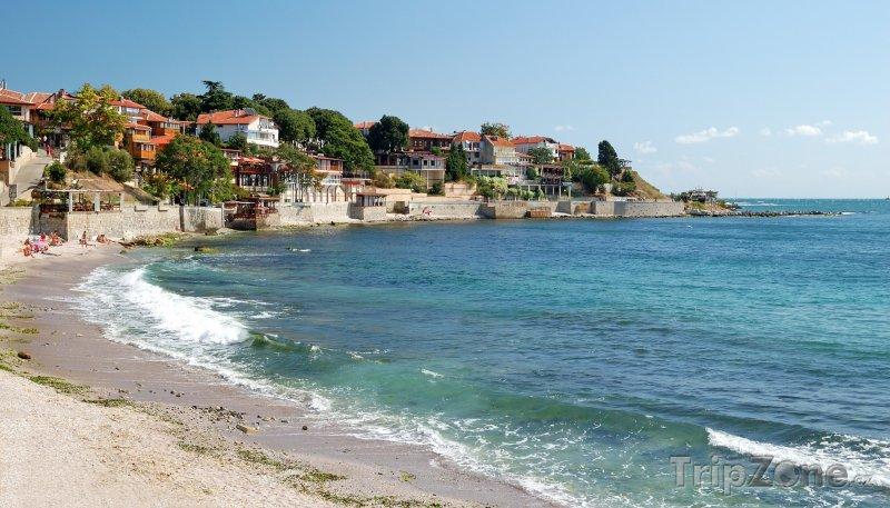 Fotka, Foto Nesebar, domy na pobřeží (Centrální část pobřeží, Bulharsko)