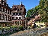 Norimberk - domky v historickém centru města