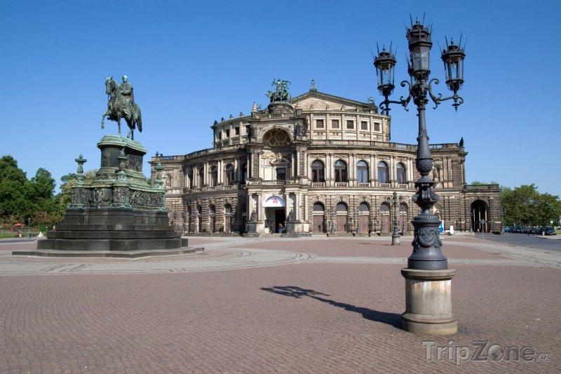 Fotka, Foto Opera v Drážďanech - Semperoper (Německo)