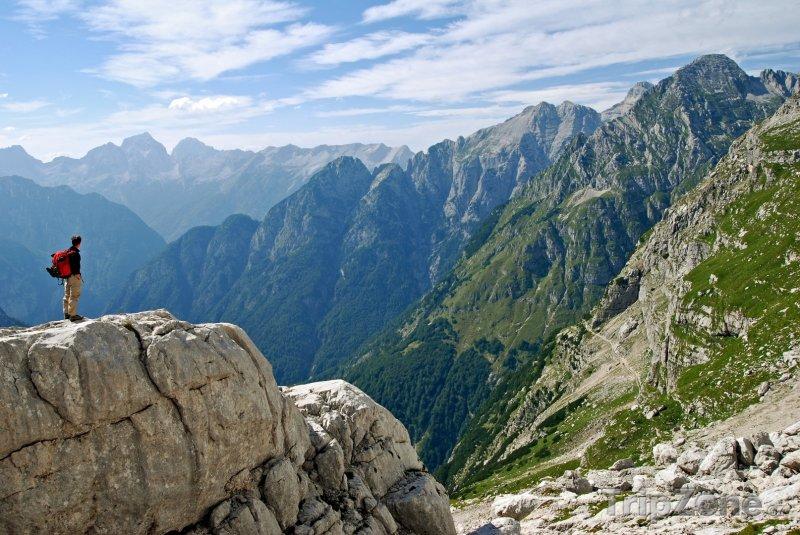 Fotka, Foto Panoráma Julských Alp (Slovinsko)