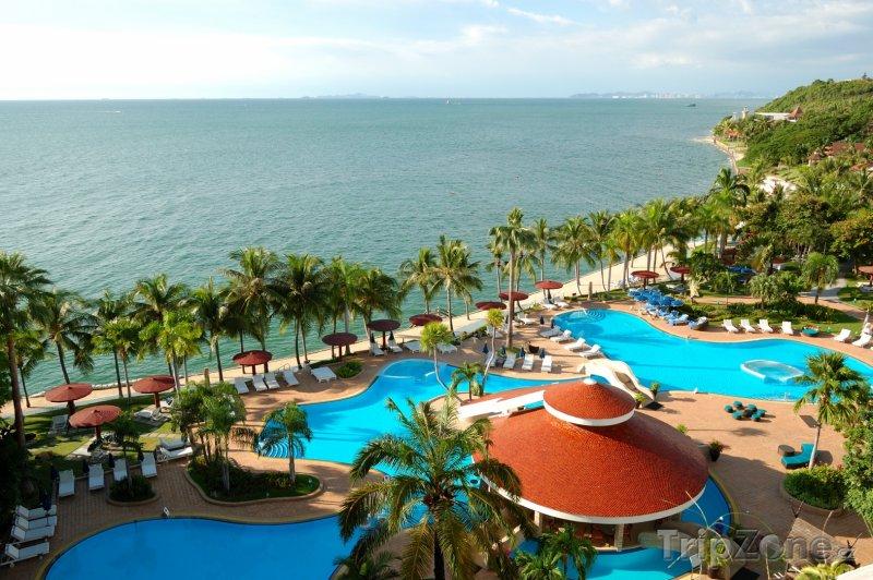 Fotka, Foto Pattaya, bazény a bary u pláže (Thajsko)