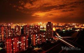 Peking - pohled na noční město