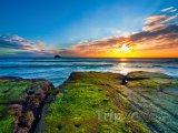 Pláž Muriwai v regionu Auckland