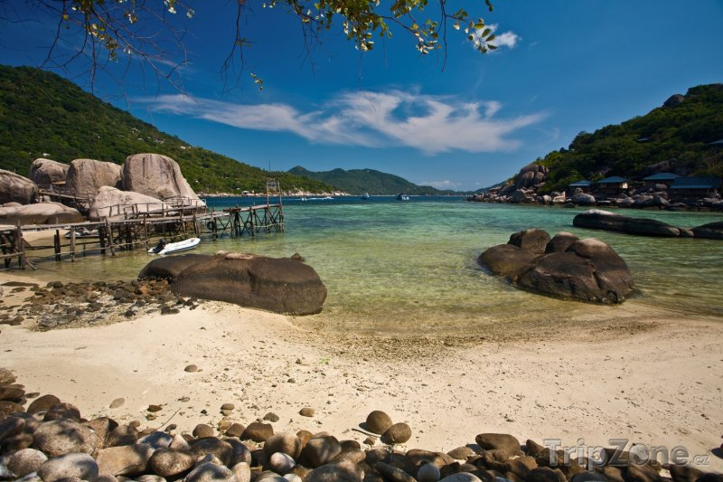 Fotka, Foto Pláž na ostrově Ko Nang Yuan (Thajsko)