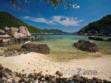 Pláž na ostrově Ko Nang Yuan