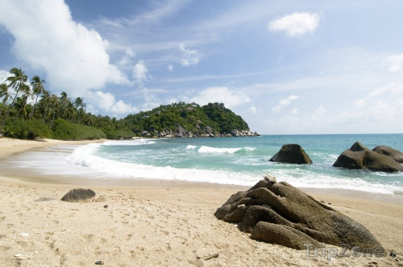 Fotka, Foto Pláž na ostrově Ko Pha Ngan (Thajsko)