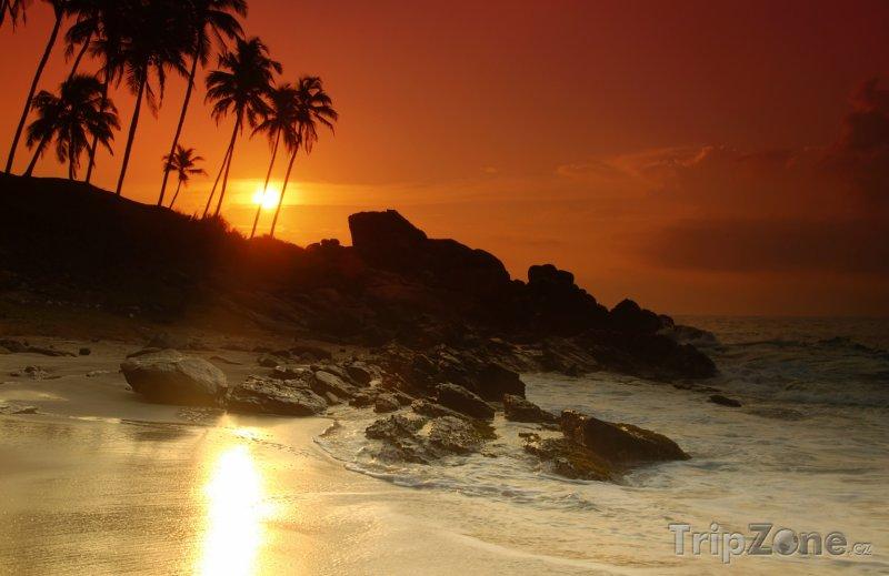 Fotka, Foto Pláž v západu slunce (Srí Lanka)