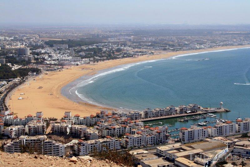 Fotka, Foto Pláž ve městě Agadir (Maroko)