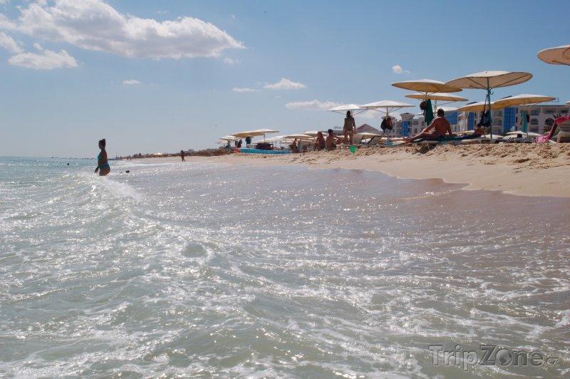 Fotka, Foto Pláž ve městě Hammamet (Tunisko)