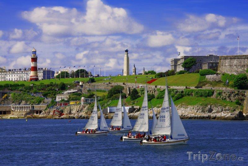Fotka, Foto Plymouth, pohled na nábřeží Plymouth Hoe (Velká Británie)