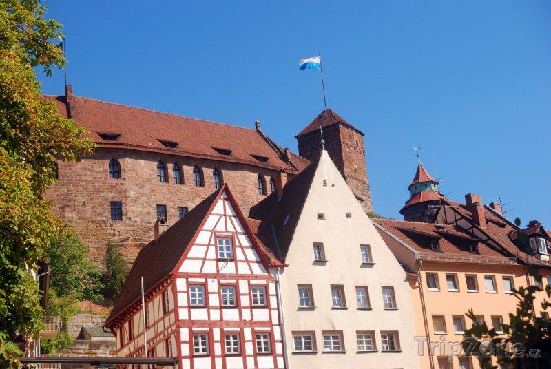 Fotka, Foto Pohled na hrad v Norimberku (Norimberk, Německo)