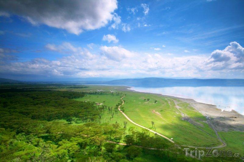 Fotka, Foto Pohled na jezero Nakuru (Keňa)