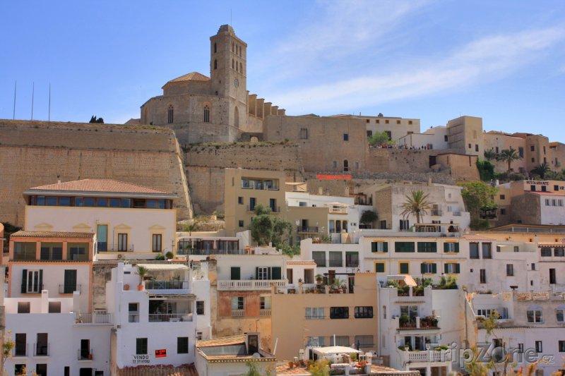 Fotka, Foto Pohled na město Ibiza (Ibiza, Španělsko)