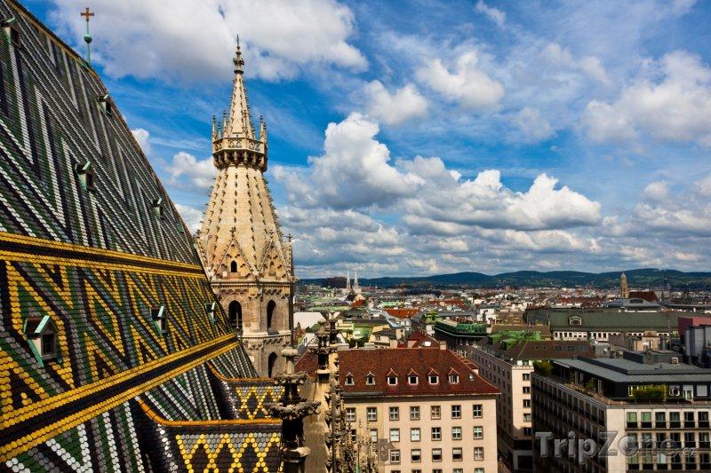 Fotka, Foto Pohled na město ze sv. Štěpána (Vídeň, Rakousko)