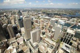 Pohled na město ze Sydney Tower