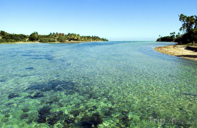 Fotka, Foto Pohled na mořskou lagunu (Fidži)