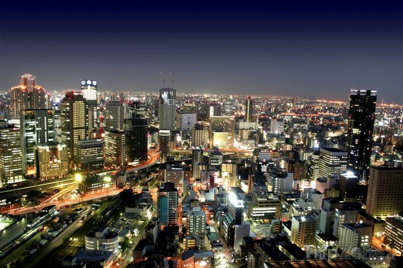 Fotka, Foto Pohled na noční Tokio (Japonsko)