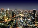 Pohled na noční Tokio