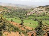 Pohled na pohoří Vysoký Atlas