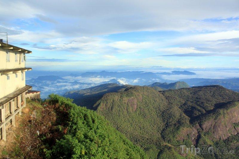 Fotka, Foto Pohled z hory Adam's Peak (Srí Lanka)