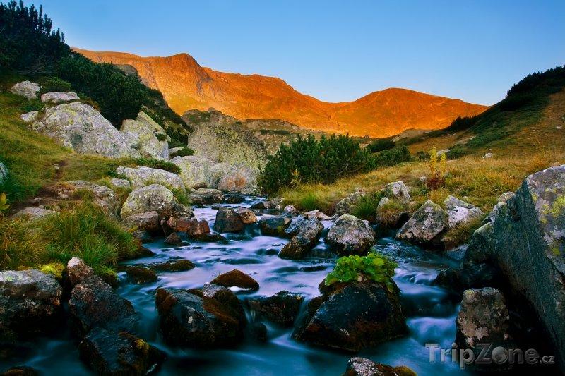 Fotka, Foto Pohoří Rila za rozbřesku (Bulharsko)