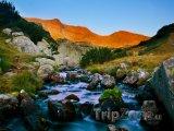 Pohoří Rila za rozbřesku