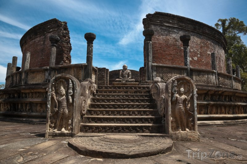 Fotka, Foto Pomník Polonnaruwa Vatadage (Srí Lanka)
