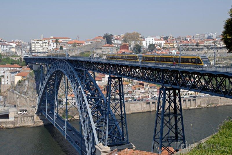 Fotka, Foto Porto, most Ponte Luís I přes řeku Douro (Portugalsko)