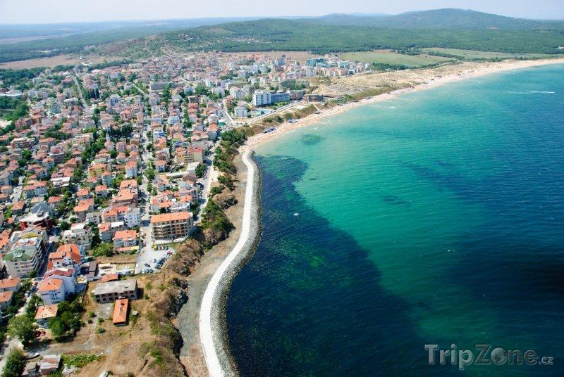 Fotka, Foto Primorsko, panoráma pobřeží (Jižní pobřeží, Bulharsko)