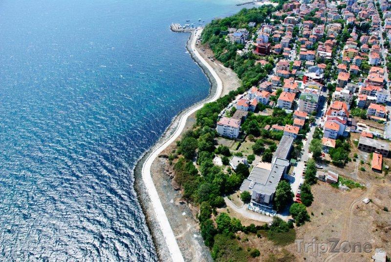 Fotka, Foto Primorsko z ptačí perspektivy (Jižní pobřeží, Bulharsko)