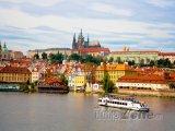 Řeka Vltava a Pražský hrad