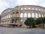 Římský amfiteátr ve městě Pula