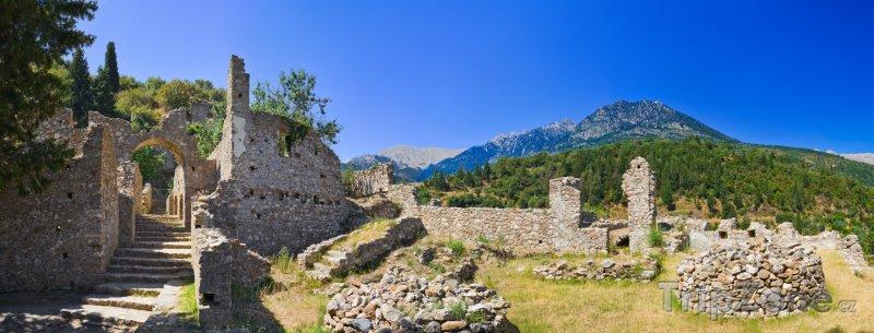 Fotka, Foto Ruiny antického města Mystras (Řecko)