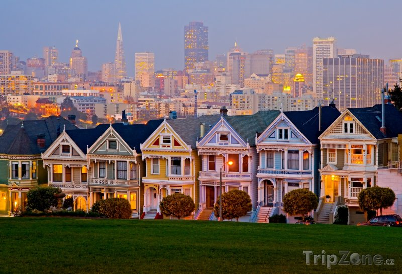 Fotka, Foto San Francisco, domky poblíž Alamo Square (USA)
